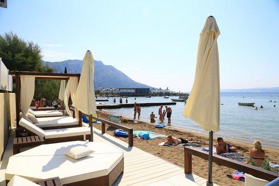 Hotel Damianii: Eigener Bereich am Strand