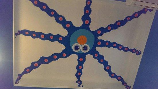 Hotel Miramare : Ceiling octopus