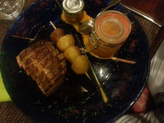Restaurant La Cave D'agnes : Magret et purée de carottes aux milles arômes! !