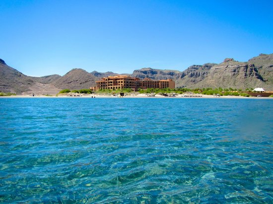 Villa del Palmar Beach Resort & Spa at The Islands of Loreto: We are standing in waist-deep water taking this photo.