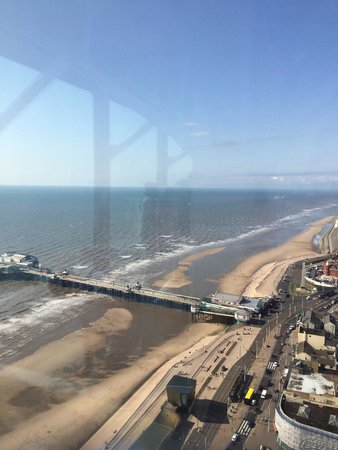 The Blackpool Tower: View of north pier