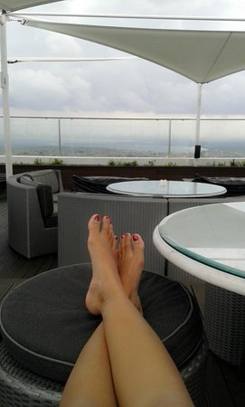 The Jimbaran View: Rooftop with bayview