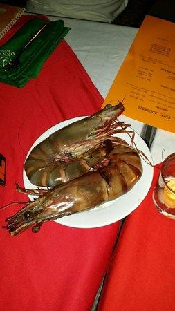 Danima Resort & Restaurant : Giant prawns appena pescati (e subito dopo mangiati ��)