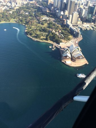 Sydney Helitours: Opera house from the helicopter