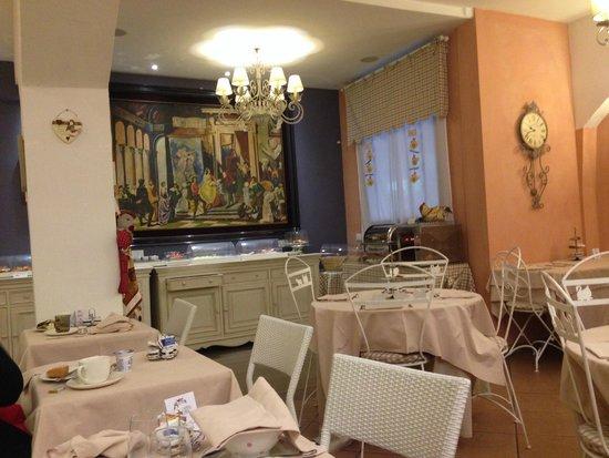 Hotel Il Guercino : comedor  donde se sirve el desayuno