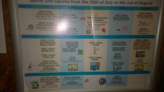 Pierre & Vacances Résidence Cannes Villa Francia : Oversikt over aktiviteter