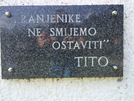 Museum Battle for the Wounded on Neretva River: Tito, great man.