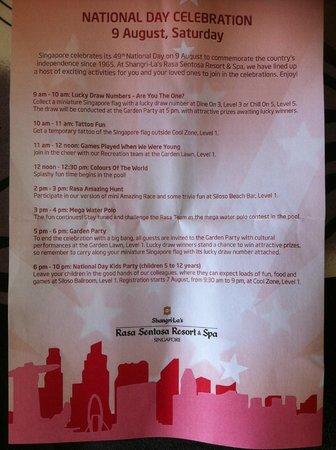 Shangri-La's Rasa Sentosa Resort & Spa: Special Event