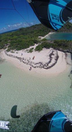40Knots Kitesurfing & Windsurfing School Antigua: Launch and landing spot