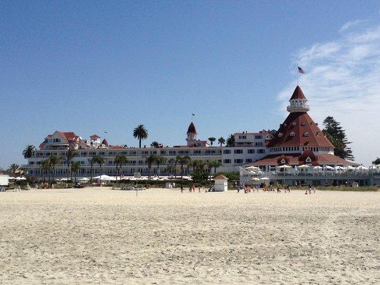 Hotel del Coronado: Beachfront View of Unique Architecture