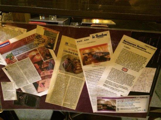 L'Alcove: Leurs récompenses et articles....