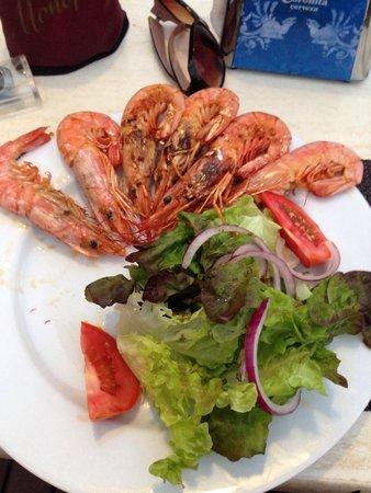Café bar Es Recó: Prawn salad, delicious & fresh!