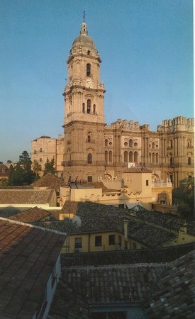 Petit Palace Plaza Malaga: View of Cathedral from our room
