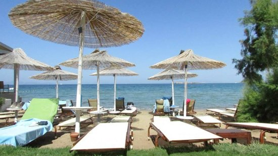 Divani Apollon Palace & Thalasso: Private beach view