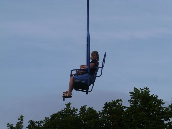 The Needles: Riding the chair lift