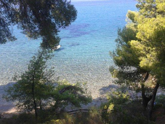 Acrotel Athena Pallas Village: La spiaggia vista da sopra, pochi scalini e il paradiso è lì ad aspettarvi!!!