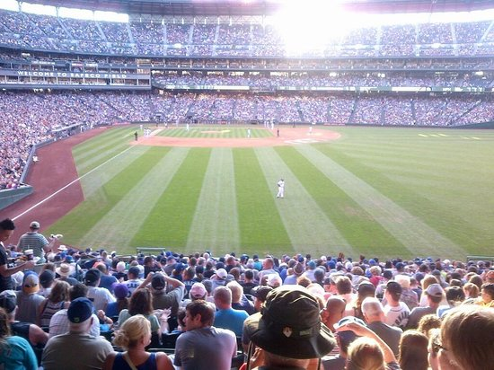 Safeco Field: This is a shot from the concourse at the outfield. We were seated to the left near first base.