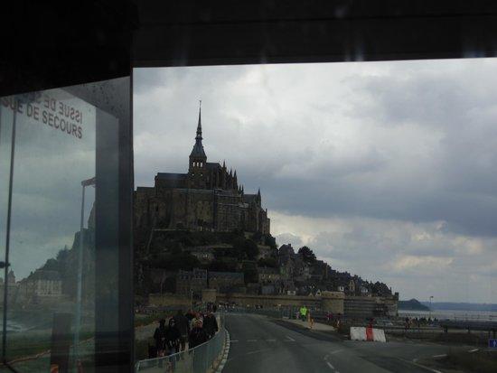 Abbaye du Mont-Saint-Michel : Vista do ônibus