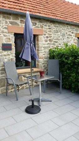 Le Relais de Roscarven: la terrasse