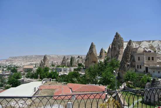 Cappadocia Cave Suites: View from balcony outside our room