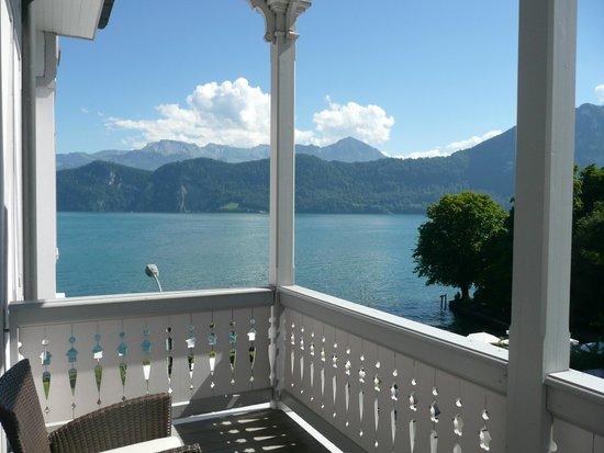 Park Weggis: Vue sur le lac depuis le balcon de la chambre