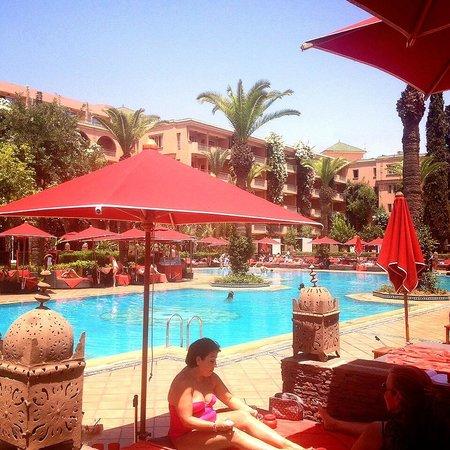 Sofitel Marrakech Palais Imperial : Vue depuis l'Oasis restaurant