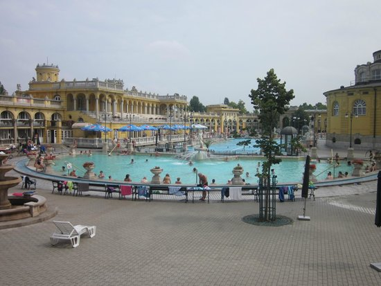 Széchenyi Baths and Pool : piscina esterna.