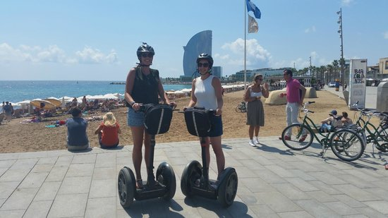 Barcelona Segway Glides: At the beach
