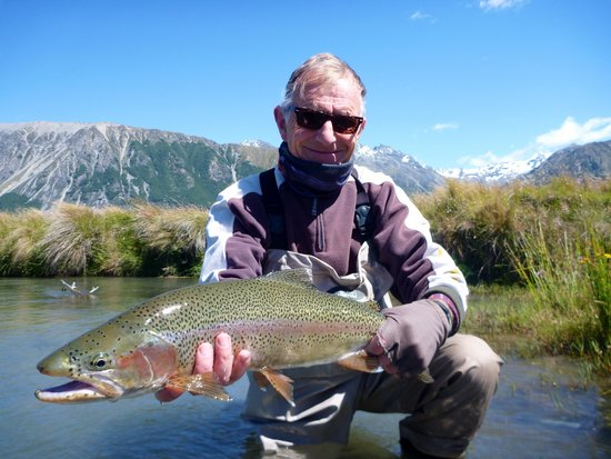Southern Rivers Fly Fishing: David the Man Johnston with his first of many during his 2014 visit.