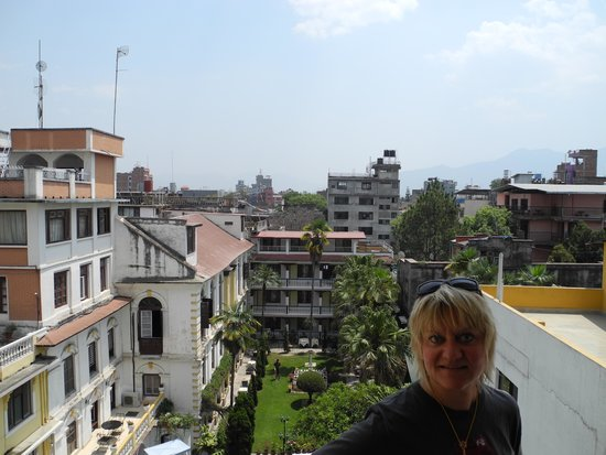 Kathmandu Guest House : View from the balcony to the garden