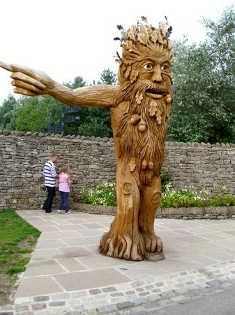 The Forbidden Corner: The green man at the entrance