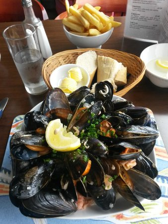 The Pierhouse Hotel - RESTAURANT: Delicious huge mussels