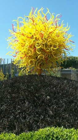 Chihuly Garden and Glass : outside sculpture