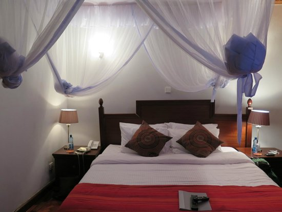 Lavington Hill House: bed with mosquito net