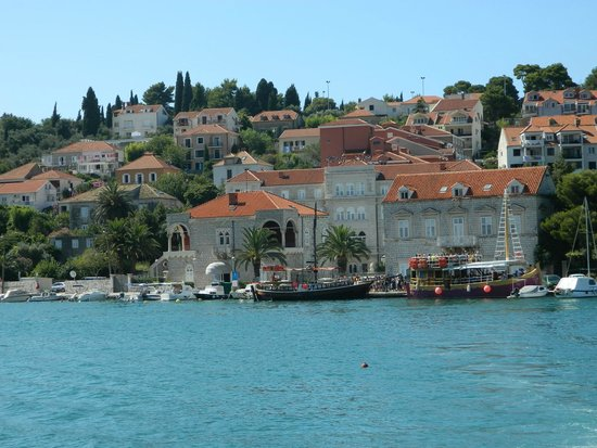 View of Hotel Lapad from the water