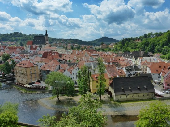 Historic Center of Cesky Krumlov: from the castle