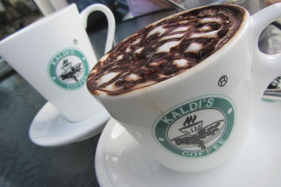 Kaldi's Coffee: Hot Chocolate and Kaldi's Tea