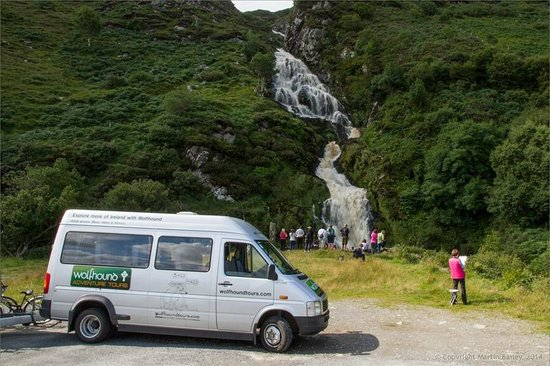 Wolfhound Adventure Tours: The wolfmobile at Maghera Falls