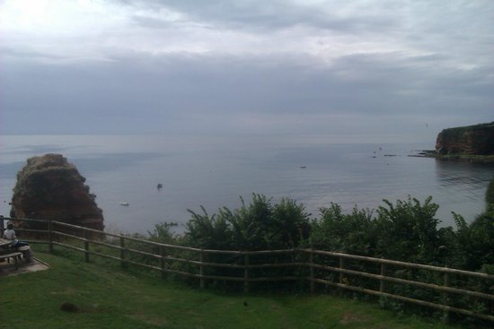 Ladram Bay Holiday Park: View from the Recreational field.