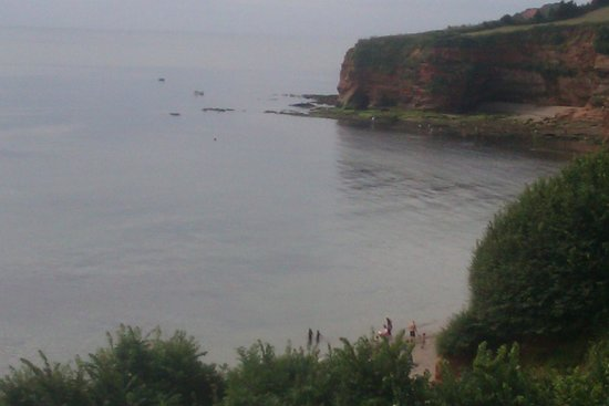 Ladram Bay Holiday Park: View of the bay