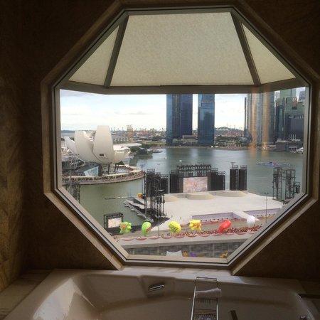 The Ritz-Carlton, Millenia Singapore: View from the tub