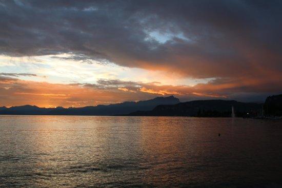 Parc Hotel Gritti: Sunset over Lake Garda