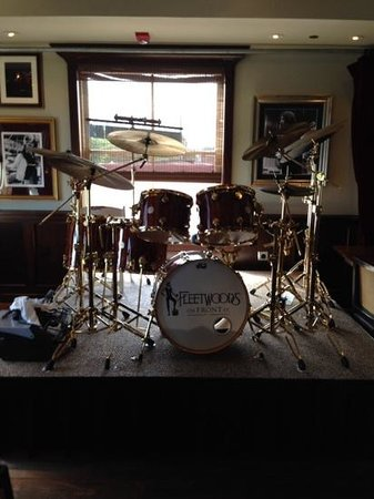 Fleetwood's on Front St: Mick Fleetwood's drum set in the dining room