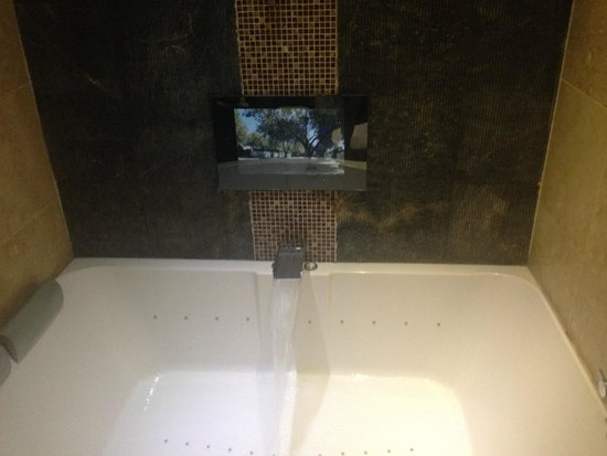 Cranleigh Boutique : Tv in bathroom,