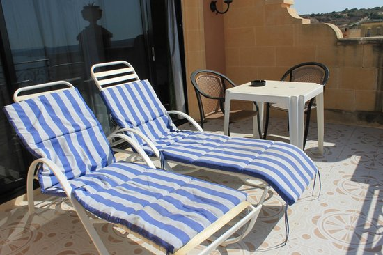 Grand Hotel Gozo: Lovely terrace