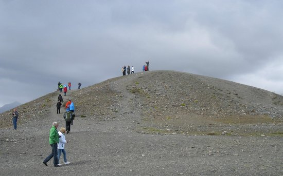 Nordic Visitor Tours - Day Tours: Hill overlooking the glacial lagoon