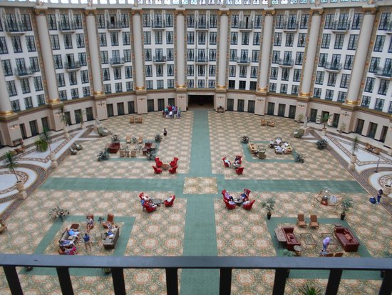 West Baden Springs Hotel: 6th floor atrium balcony room view