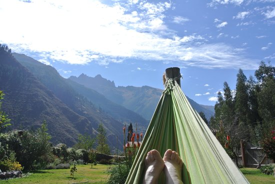 The Green House Peru: Lying in the hammock