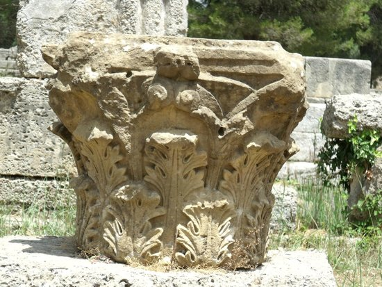 Ancient Olympia: Column detail
