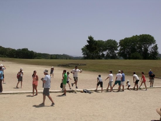 Ancient Olympia: Start line and running track